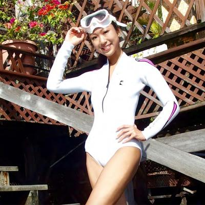 Pearl-white Bodysuit(3mm)F